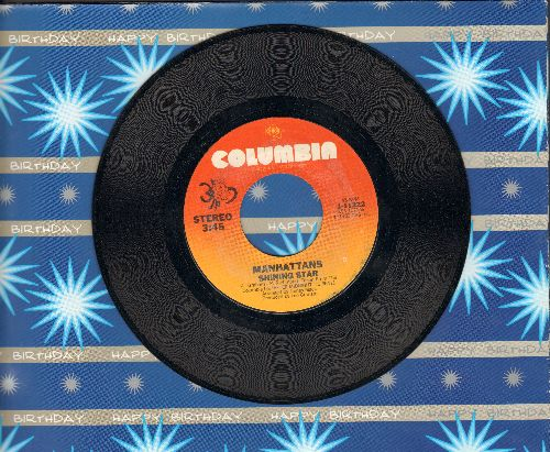 Manhattans - Shining Star/I'll Never Run Away From Love again - EX8/ - 45 rpm Records