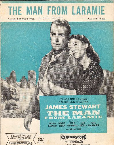 Stewart, James - The Man From Laramie - SHEET MUSIC for the title song from the film Starring James Stewart  - VG7/ - Sheet Music