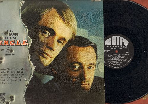 Man From U.N.C.L.E. - Man From U.N.C.L.E. - and other TV Themes: Theme From Flipper, Bonanza, Return To Peyton Place, Daniel Boone, Dr, Kildare (sung by Richard Chamberlain) (vinyl STEREO LP record, tape on side of cover) - EX8/VG6 - LP Records