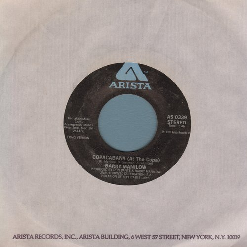 Manilow, Barry - Copacabana (At The Copa) (long and short version) (with Arista company sleeve) - VG7/ - 45 rpm Records