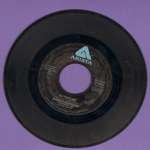 Manilow, Barry - Daybreak/Jump Shoot Boogie (with juke box label) - EX8/ - 45 rpm Records