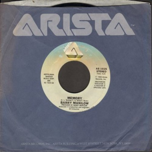 Manilow, Barry - Memory (from Musical -Cats-)/Heart Of Steel (with Arista company sleeve) - NM9/ - 45 rpm Records