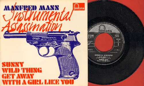 Mann, Manfred - Instrumental Assassination: Sunny/Wild Thing/Get Away/With A Girl Like You (vinyl EP record, British Pressing with picture cover) - NM9/NM9 - 45 rpm Records