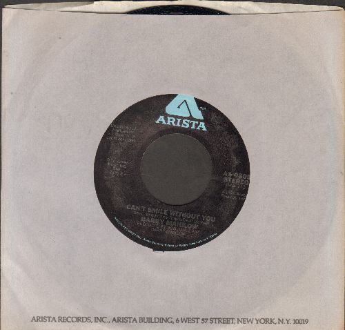 Manilow, Barry - Can't Smile Without You/Sunrise (MINT condition with Arista company sleeve) - M10/ - 45 rpm Records