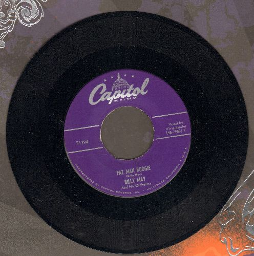 May, Billy & His Orchestra - Fat Man Boogie/My Silent Love - NM9/ - 45 rpm Records