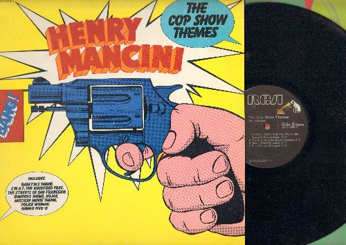 Mancini, Henry - The Cop Show Themes: Hawaii Five-O, Baretta's Theme, The Rockford Files, Kojak, The Streets Of San Francisco (vinyl STEREO LP record) - NM9/EX8 - LP Records