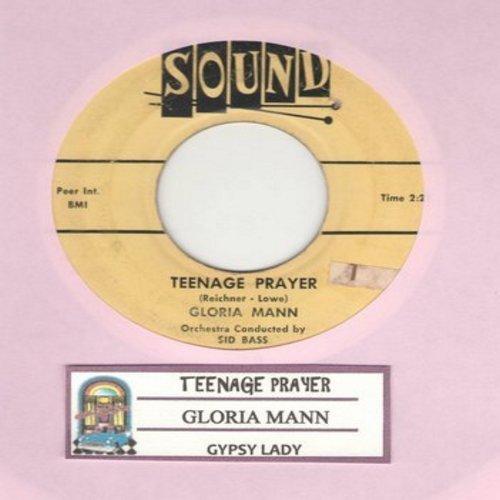 Mann, Gloria - A Teenage Prayer/Gypsy Lady (with juke box label) - VG7/ - 45 rpm Records