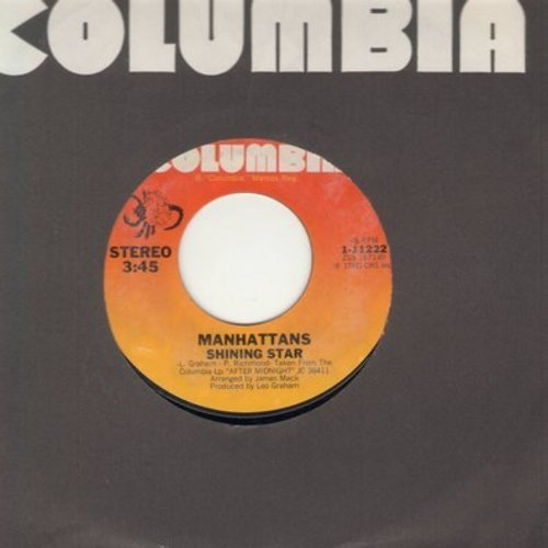 Manhattans - Shining Star/I'll Never Run Away From Love again (with Columbia company sleeve) - NM9/ - 45 rpm Records