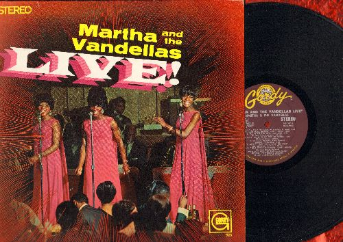 Martha & The Vandellas - Live!: Heat Wave, Nowhere To Run, Jimmy Mack, Dancing In The Street, Uptight (vinyl STEREO LP record, bottom left cover cut-out) - NM9/EX8 - LP Records