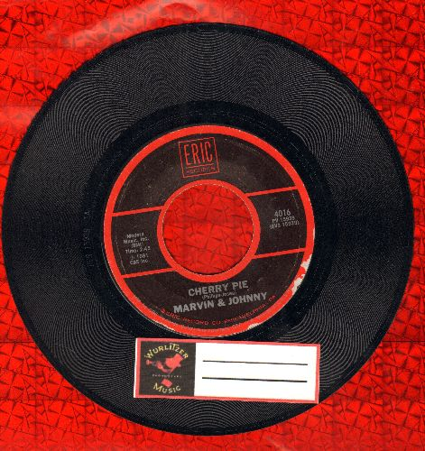 Marvin & Johnny - Cherry Pie/Rockin' Robin (by Bobby Day on flip-side) (re-issue) - NM9/ - 45 rpm Records