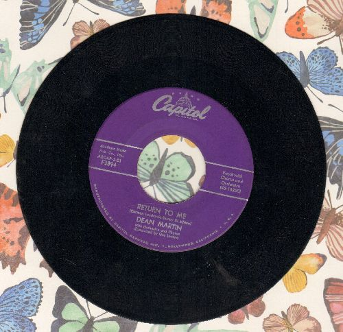 Martin, Dean - Return To Me/Forgetting You - EX8/ - 45 rpm Records