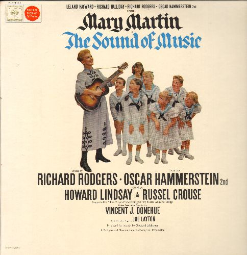 Martin, Mary - The Sound Of Music - Rodgers & Hammerstein Musical, Original Cast satrring Mary Martin (vinyl STEREO LP record, gray label, 360 degrees Sound) - M10/NM9 - LP Records