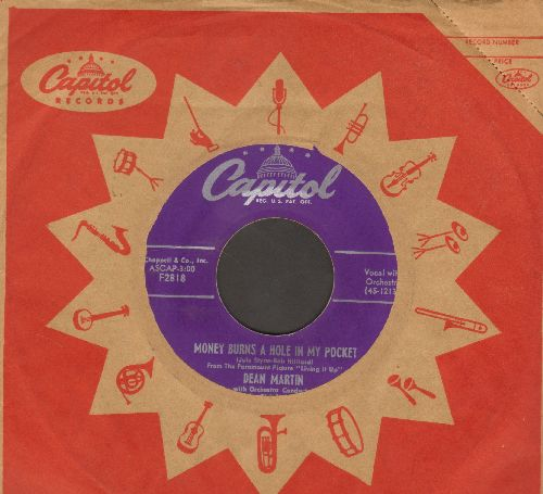 Martin, Dean - Money Burns A Hole In My Pocket/Sway (with vintage Capitol company sleeve) - EX8/ - 45 rpm Records