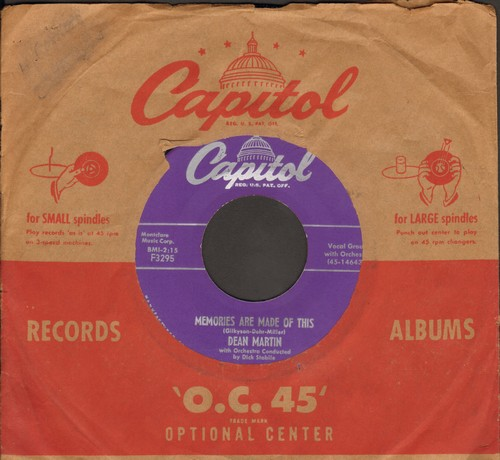 Martin, Dean - Memories Are Made Of This/Change Of Heart (with vintage Capitol company sleeve, NICE condition!) - VG7/ - 45 rpm Records