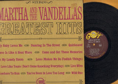 Martha & The Vandellas - Greatest Hits: Dancing In The Street, Nowhere To Run, Quicksand, Come And Get These Memories (vinyl STEREO LP record) - EX8/VG7 - LP Records