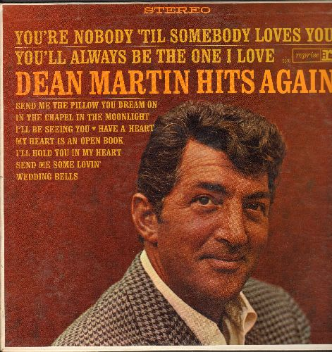 Martin, Dean - Hits Again: Send Me The Pillow You Dream On, Send Me Some Lovin', I'll Hold You In My Heart (vinyl STEREO LP record) - EX8/EX8 - LP Records