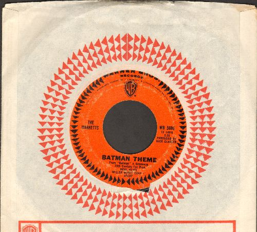 Marketts - Batman Theme/Richie's Theme (with vintage Warner Brothers company sleeve) - VG7/ - 45 rpm Records