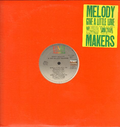 Marley, Ziggy & The Melody Makers - Give A Little Love (3 Different Extended Versions) + Give A Little Love (12 inch vinyl Maxi Single) - NM9/ - Maxi Singles