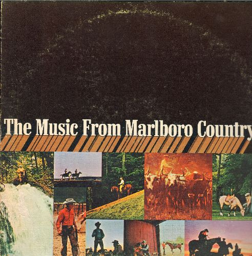 Music From Marlboro Country - The Music From Marlboro Country: The Magnificent Seven, Bossa Nova, Bandidos, The Longhorns, Guracha (vinyl STEREO LP record, United Artists Special Products Pressing) - EX8/VG7 - LP Records
