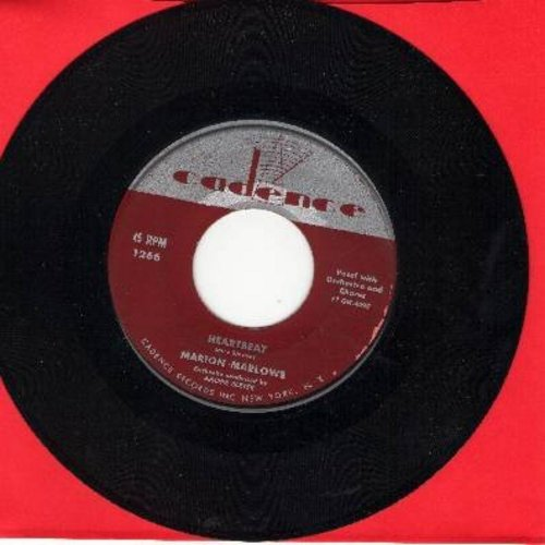 Marlowe, Marion - Heartbeat/The Man In The Raincoat (BEATIFUL Love Ballad 2-sider!) - EX8/ - 45 rpm Records
