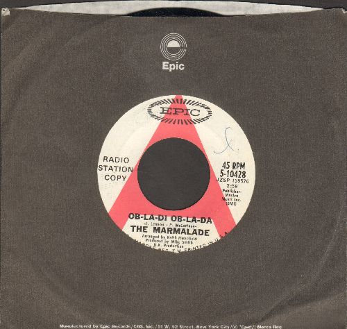 Marmalade - Ob-La-Di Ob-La-Da/Chains (DJ advance pressing with Epic company sleeve) - NM9/ - 45 rpm Records
