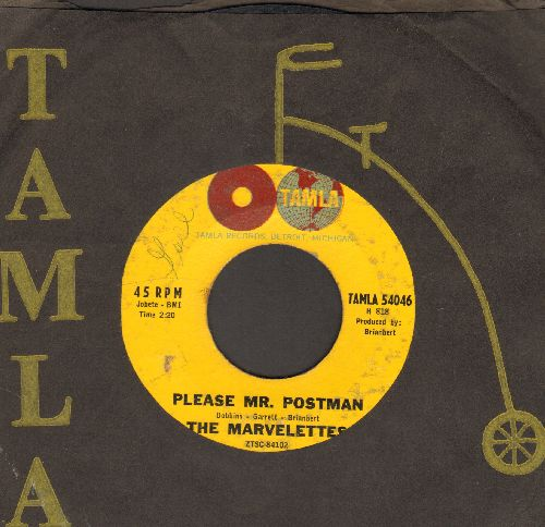 Marvelettes - Please Mr. Postman/So Long Baby (with RARE vintage Tamla company sleeve) - VG7/ - 45 rpm Records