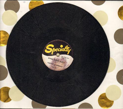 Marvin & Johnny - Ding Dong Baby/Mamo Mamo (RARE 10 inch 78 rpm record) - EX8/ - 78 rpm