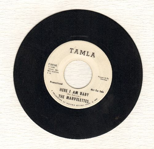 Marvelettes - Here I Am Baby (double-A-sided DJ advance pressing, wol) - VG7/ - 45 rpm Records