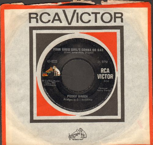 March, Peggy - Your Good Girl's Gonna Go Bad/Mama Dear, Papa Dear (with RCA company sleeve) - VG7/ - 45 rpm Records