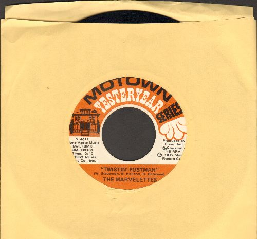 Marvelettes - Twistin' Postman/Please, Mr. Postman (double-hit re-issue) - NM9/ - 45 rpm Records