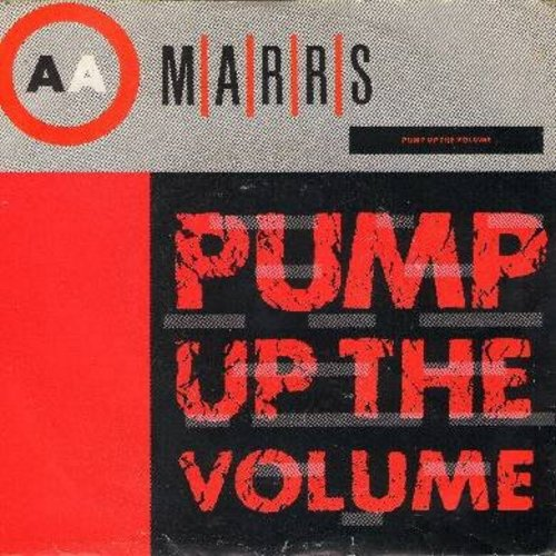 Marrs - Pump Up The Volume/Anitina - The First Time I See She Dance (with picture sleeve) - NM9/EX8 - 45 rpm Records
