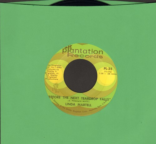 Martell, Linda - Before The Next Teardrop Falls/Tender Leaves Of Love - NM9/ - 45 rpm Records