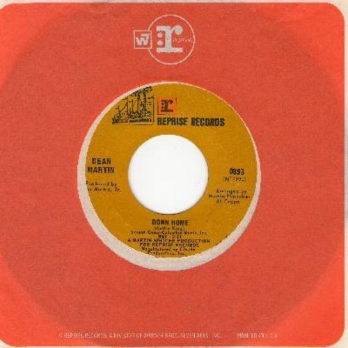 Martin, Dean - Down Home (Overlooked DREAMY GEM!)/Come On Down (with Reprise company sleeve) - EX8/ - 45 rpm Records