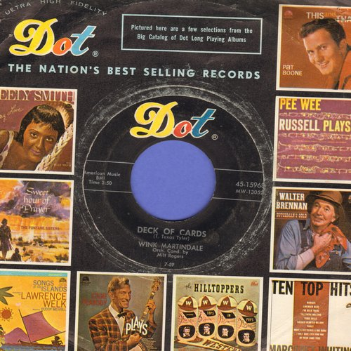 Martindale, Wink - Deck Of Cards/Now You Know How It Feels (with Dot company sleeve) - EX8/ - 45 rpm Records