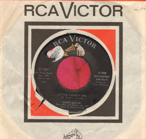 Martin, Barry - Little Lonely One/Are You Sure (with RCA company sleeve) (sol) - EX8/ - 45 rpm Records