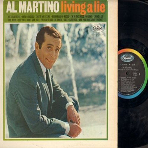 Martino, Al - Living A Lie: Vaya Con Dios, That's My Desire, I'm In The Mood For Love, The More I See You, Are You Lonesome Tonight? (vinyl MONO LP record) - M10/EX8 - LP Records