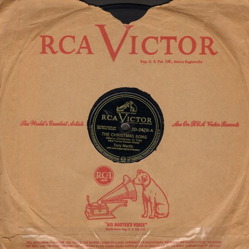 Martin, Tony - The Christmas Song/Begin The Beguine (10 inch 78 rpm record with RCA company sleeve) - EX8/ - 78 rpm