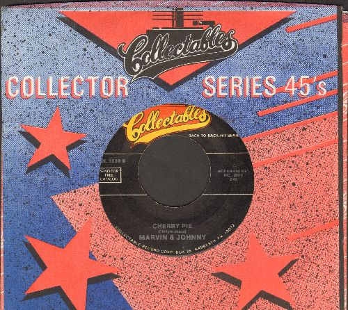 Marvin & Johnny - Cherry Pie/Dance With Me Henry (by Etta James on flip-side) (double-hit re-issue) - VG7/ - 45 rpm Records