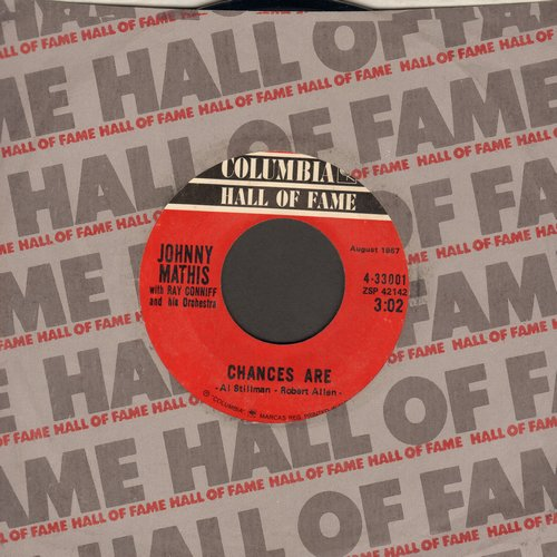 Mathis, Johnny - Chances Are/It's Not For Me To Say (double-hit re-issue) - EX8/ - 45 rpm Records