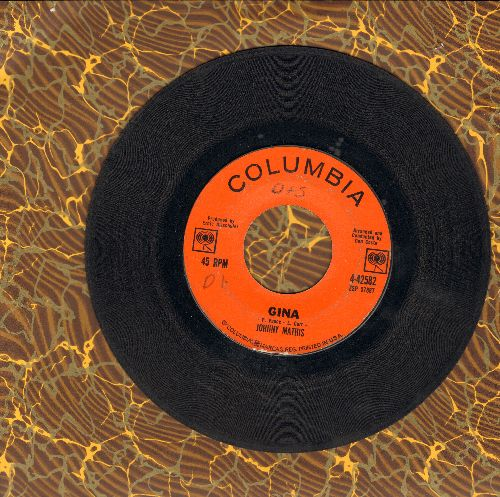 Mathis, Johnny - Gina/I Love Her That's Why (wol) - VG7/ - 45 rpm Records