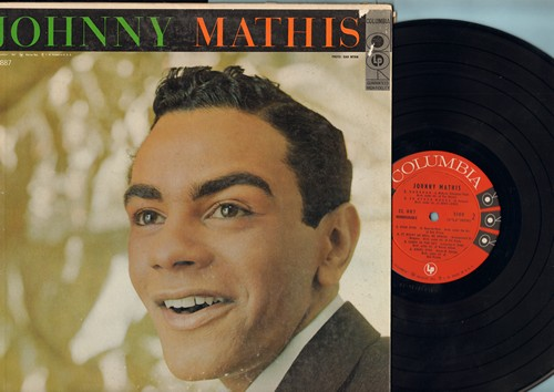 Mathis, Johnny - Johnny Mathis (VERY FIRST Johnny Mathis album, 1957 Original issue, EARLY pressing with baby faced cover foto!): Autumn In Rome, Easy To Love, Babalu, Prelude To A Kiss, Caravan, Angel Eyes, In Other Words (vinyl MONO LP record) - NM9/VG7