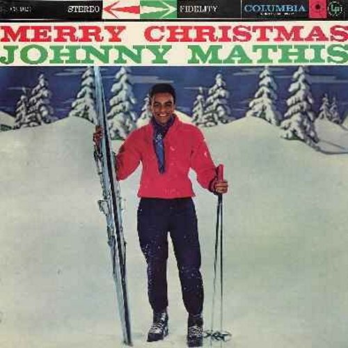 Mathis, Johnny - Merry Christmas: Winter Wonderland, Sleigh Ride, White Christmas, The Christmas Song, Silent Night (vinyl STEREO LP record) (REISSUE) - EX8/VG7 - LP Records