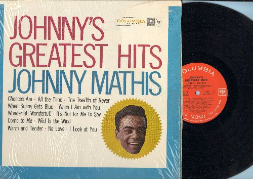 Mathis, Johnny - Johnny's Greatest Hits: Chances Are, The Twelfth Of Never, Wonderful Wonderful, Wild Is The Wind (vinyl MONO LP record, 360 degrees sound 1960s pressing, with shrink wrap) - EX8/NM9 - LP Records