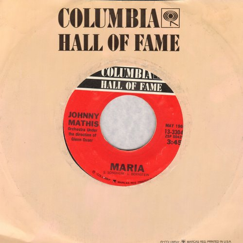 Mathis, Johnny - Maria/Misty (re-issue) - EX8/ - 45 rpm Records