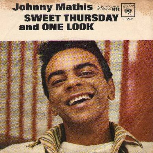 Mathis, Johnny - Sweet Thursday/One Look (with picture sleeve) - NM9/EX8 - 45 rpm Records