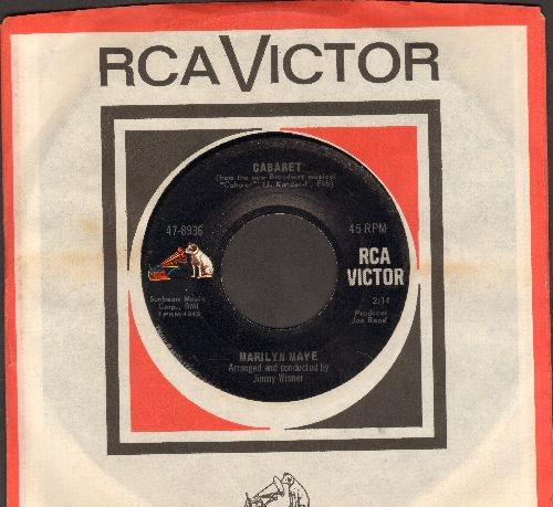 Maye, Marilyn - Cabaret/Two Lovers (with RCA company sleeve) - NM9/ - 45 rpm Records