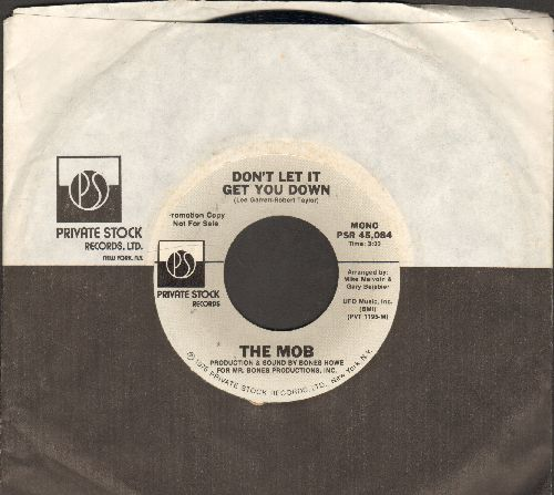 Mob - Don't Let It Get You Down (double-A-sided DJ advance pressing with MONO and STEREO version, with Private Stock company sleeve) - NM9/ - 45 rpm Records