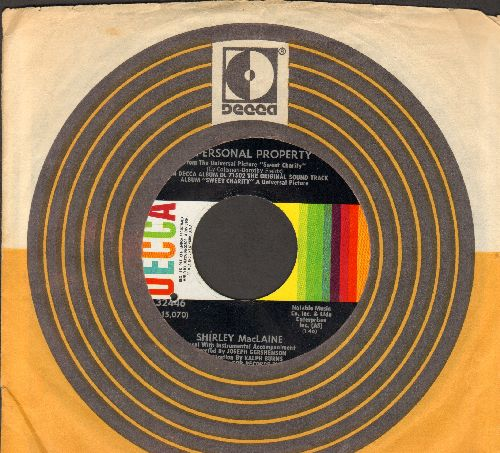 MacLaine, Shirley - My Personal Property/Where Am I Going (both songs from film -Sweet Charity-) (with Decca company sleeve)(bb) - NM9/ - 45 rpm Records