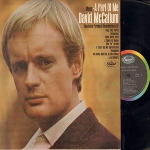 McCallum, David - Music - A Part Of Me: 1-2-3, The -In- Crowd, Yesterday, I Can't Get No Satisfaction, Downtown (vinyl MONO LP record) - NM9/VG7 - LP Records