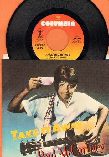 McCartney, Paul - Take It Away/I'll Give You A Ring (with picture sleeve) - M10/EX8 - 45 rpm Records